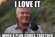 """Friday: """"I love it when a plan comes together"""""""
